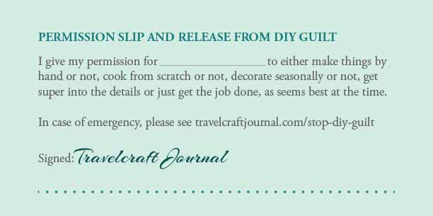 Stop DIY Guilt: permission slip