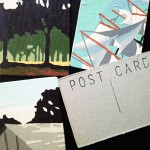 Handcrafted postcards