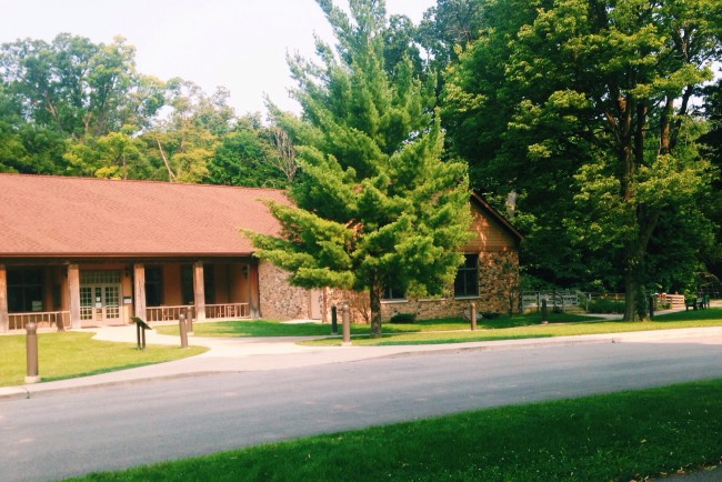 Mounds state park visitors center