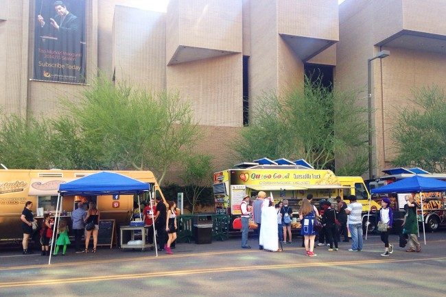 Phenix convention center and food trucks