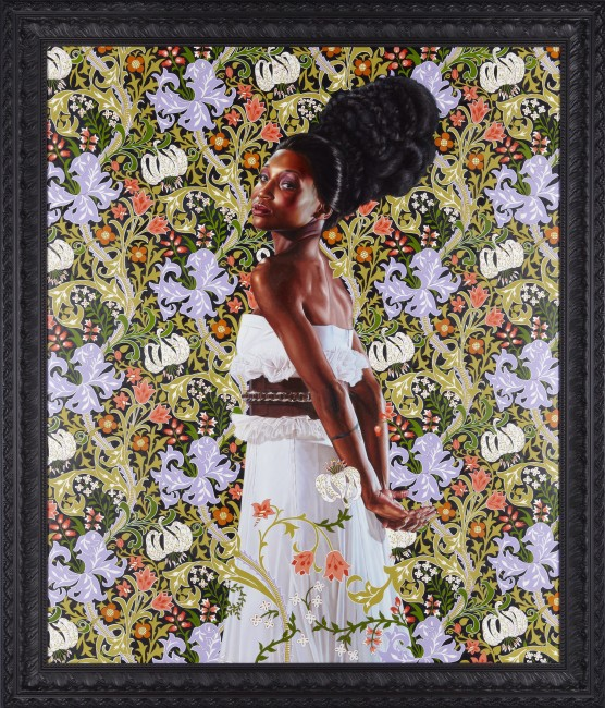 Kehinde Wiley, Mrs. Waldorf Astoria, 2012. Oil on linen. Private Collection, Los Angeles, courtesy of Sean Kelly, New York. © Kehinde Wiley. Photo: Jason Wyche.