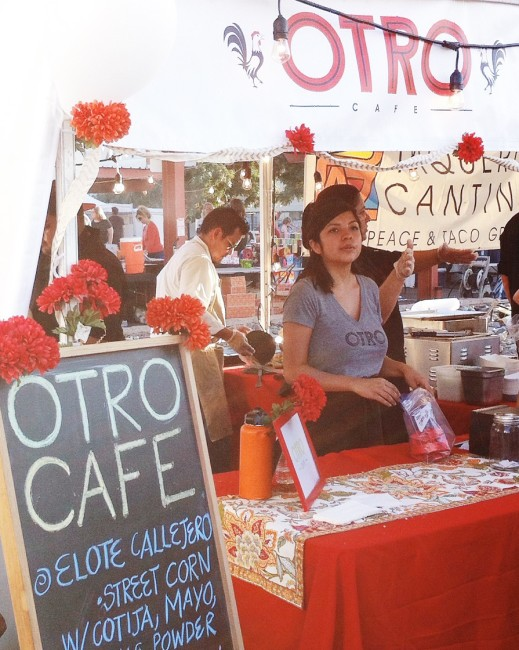 Otro cafe booth at Chile Pepper Festival