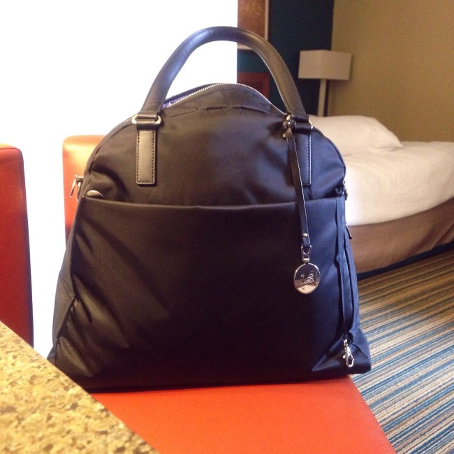 Lo and Sons bag at tucson hotel