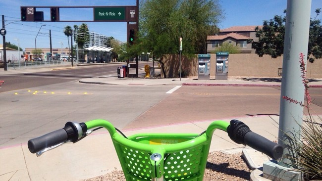 Mesa park and ride with grid bike