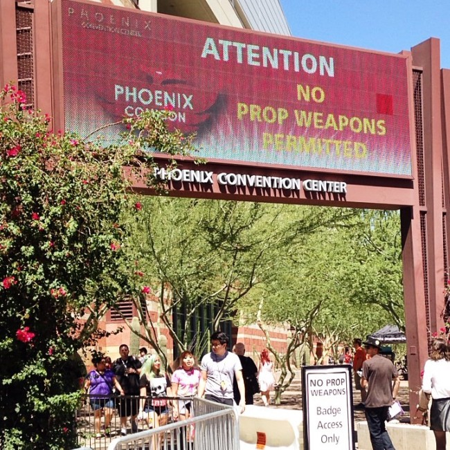 PHXCC prop ban signs