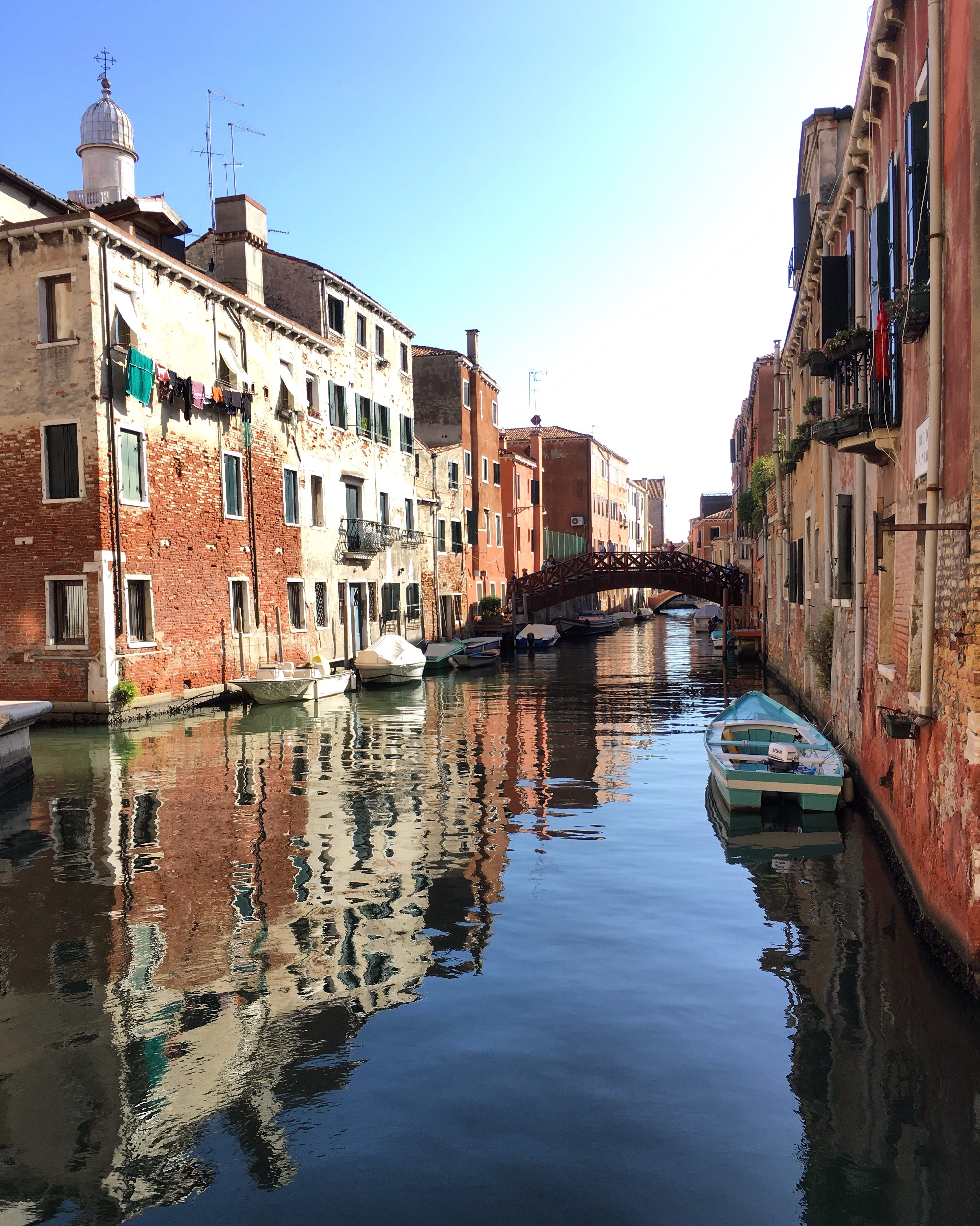 Venice boat on canal