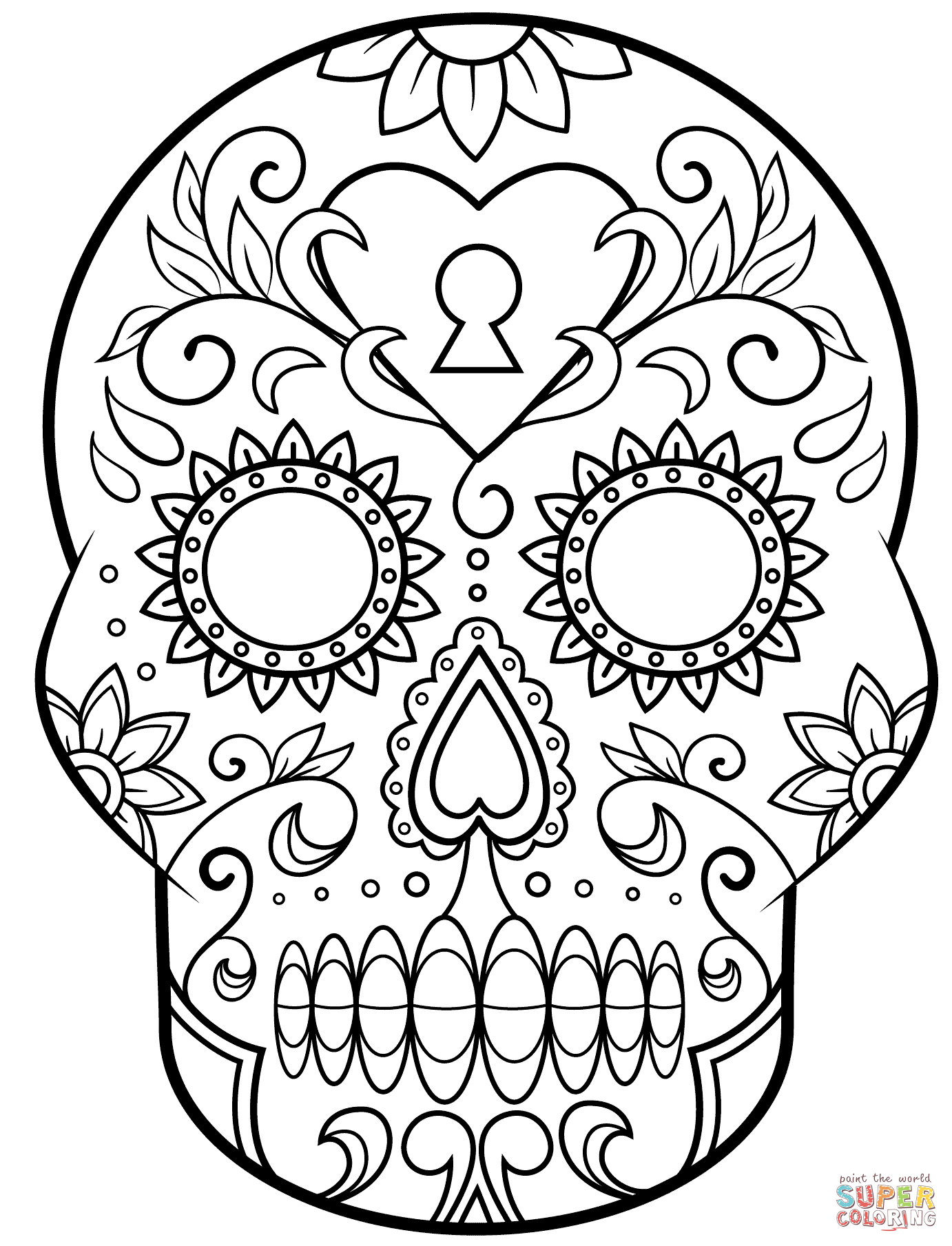 Skull coloring page