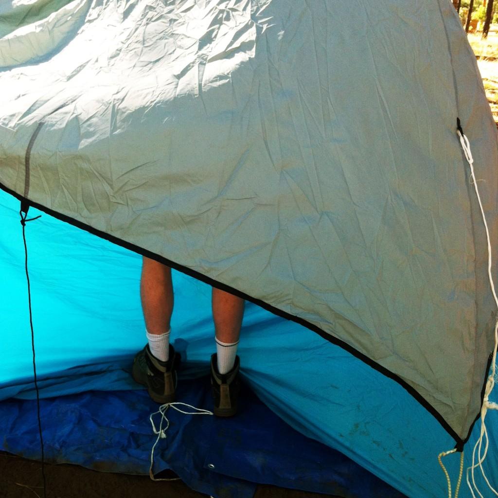 Setting up camp at Lakeside