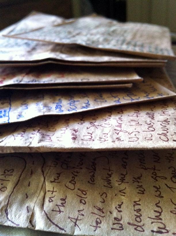 paper bag scrapbook pages