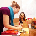 Making gift bags at Craft Hack
