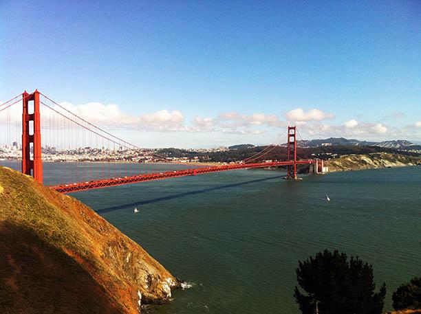 The Golden Gate Bridge over the San Francisco Bay