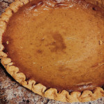 Carving pumpkin into pie
