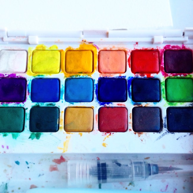 Watercolor paint pans