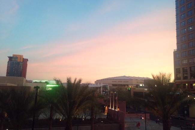 Downtown Phoenix sunset
