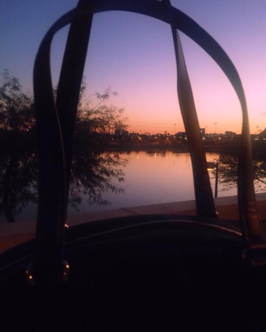 Bag at sunset