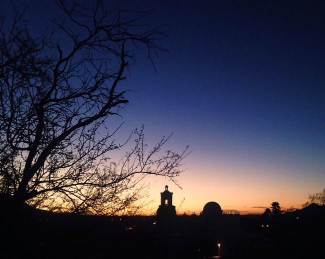 San Xavier del Bac, Tucson at sunset