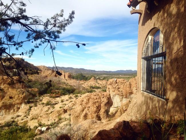 Picket Post mansion view, Superior, AZ
