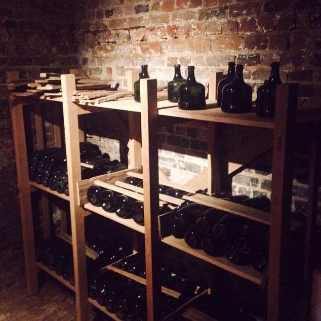 Monticello wine cellar