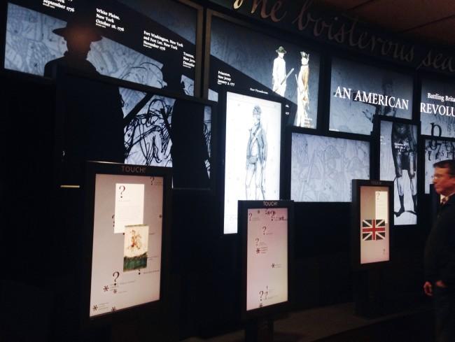 Monticello visitor center display
