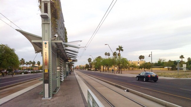 Tempe light rail station