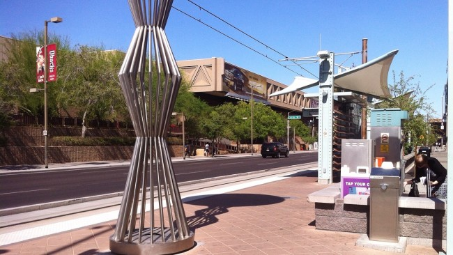 Phx light rail station Art