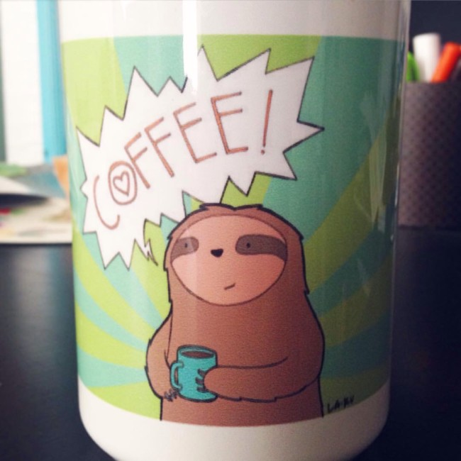 Coffee sloth!