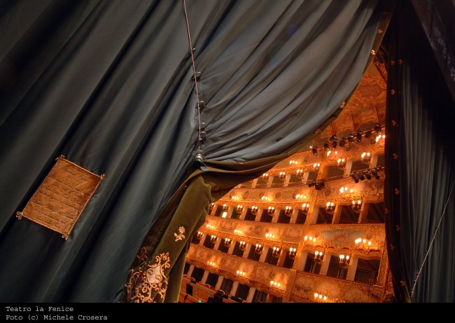 Teatro La Fenice behind the curtain