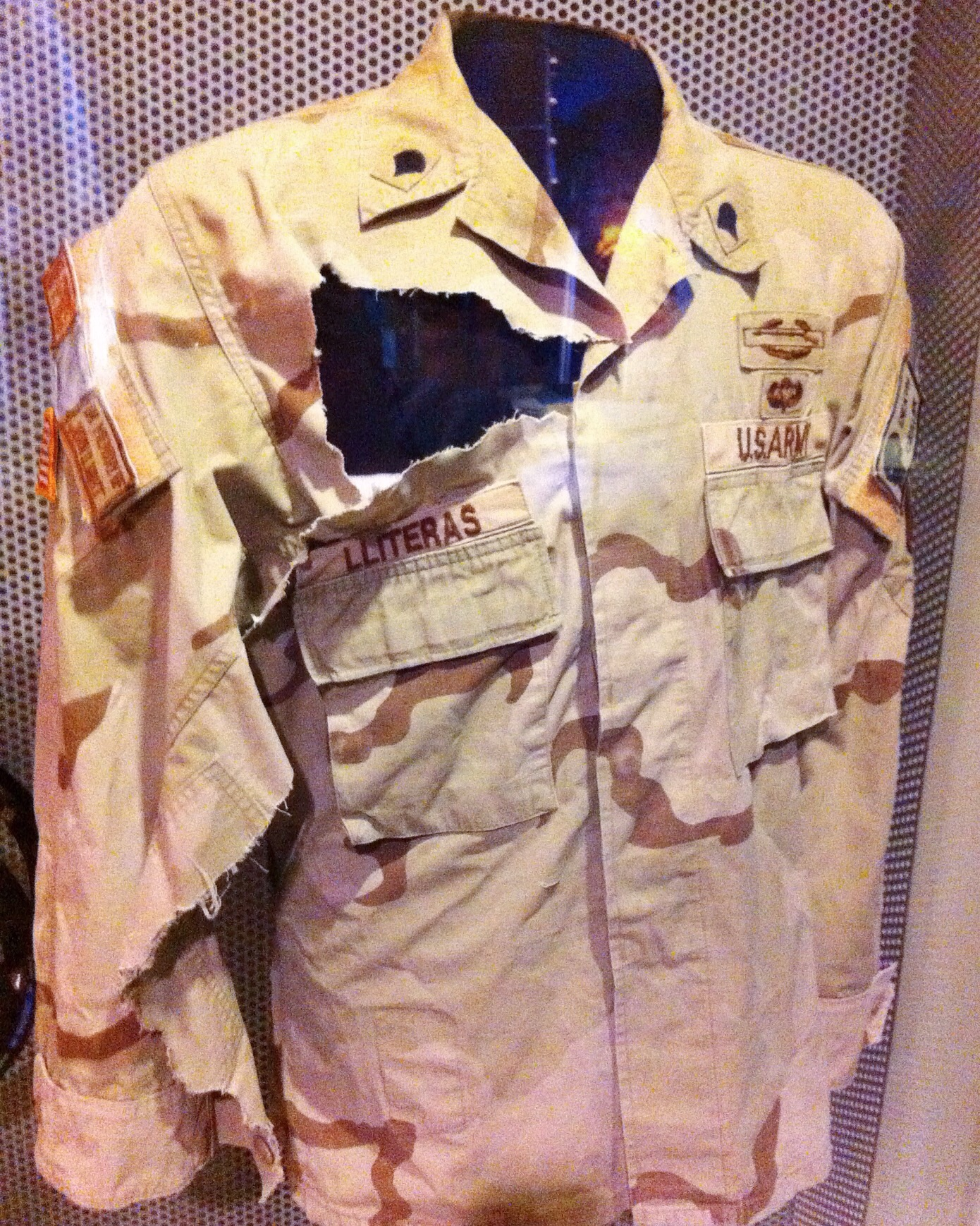 Uniform at Smithsonian - American history museum