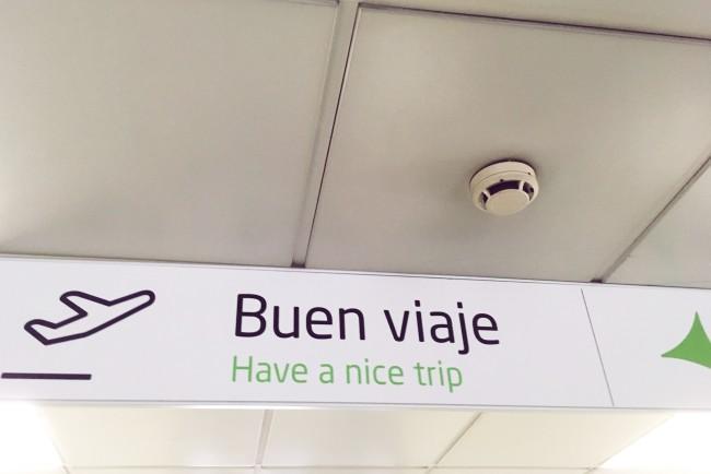 Madrid airport: buen viaje