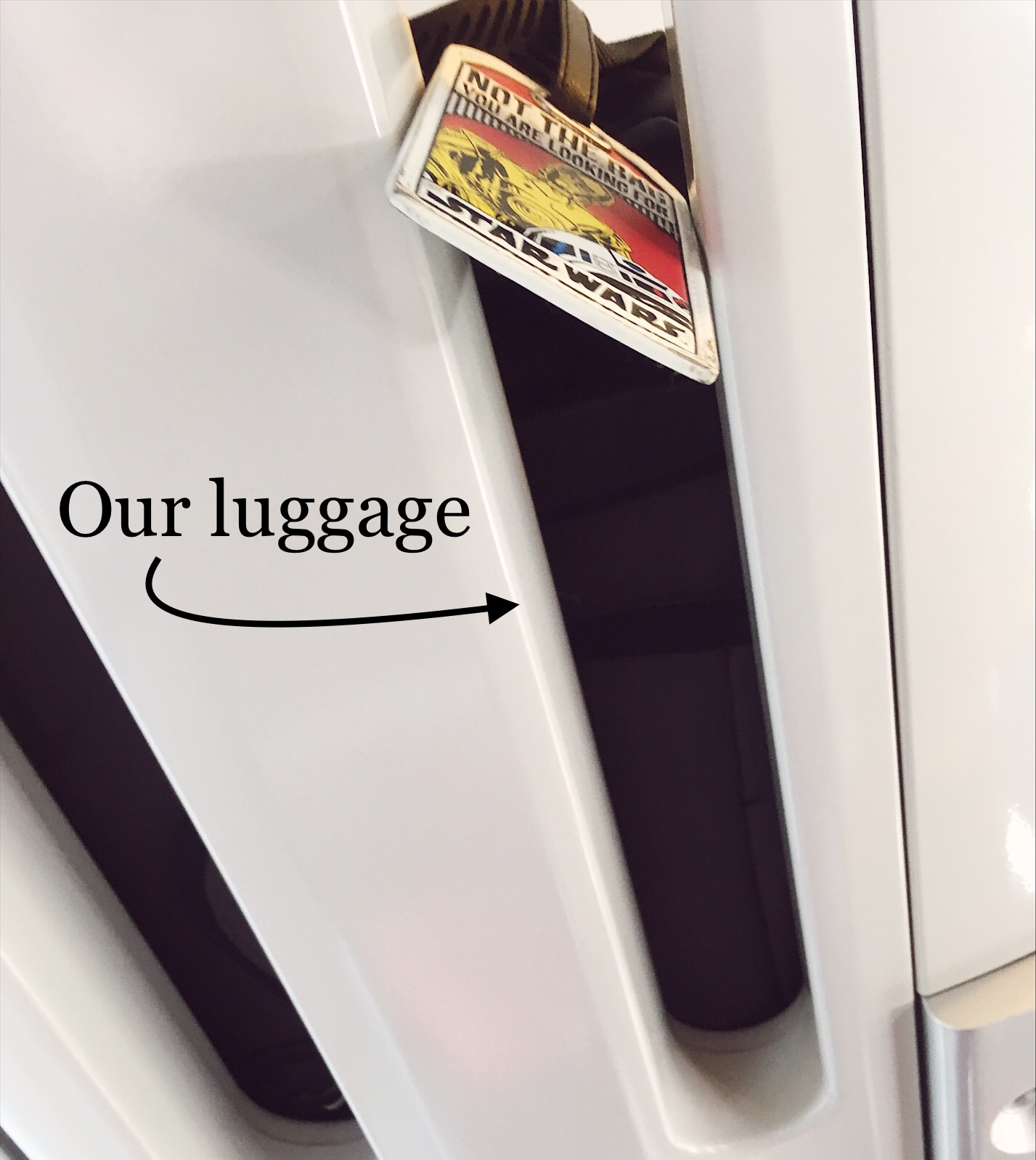 Luggage on train