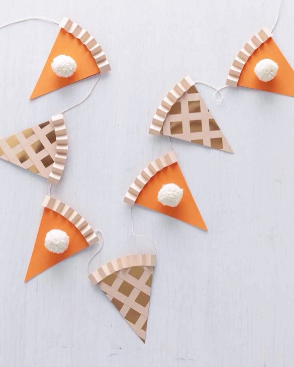 Pumpkin pie garland by martha stewart