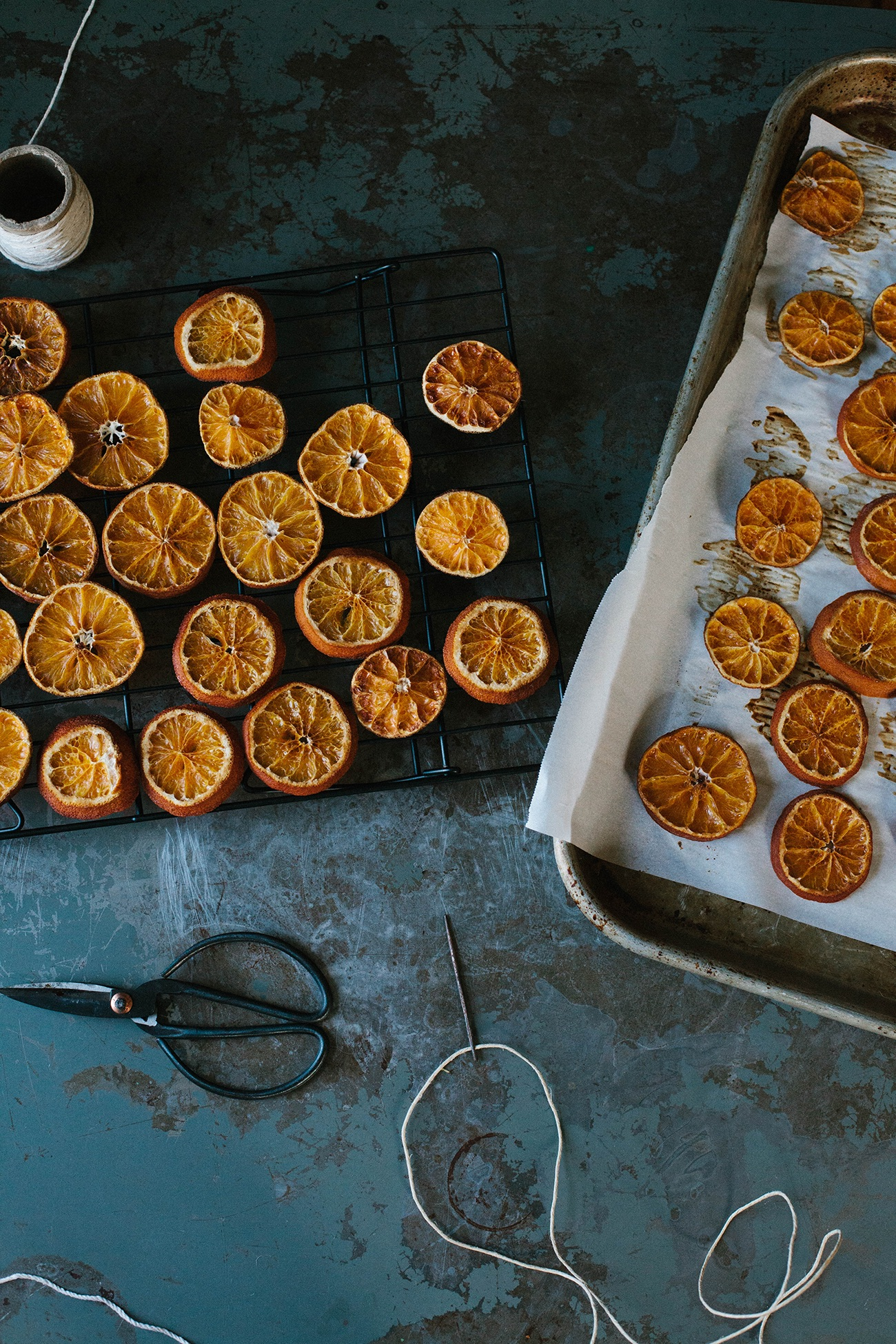 DIY orange garland by A Daily Something