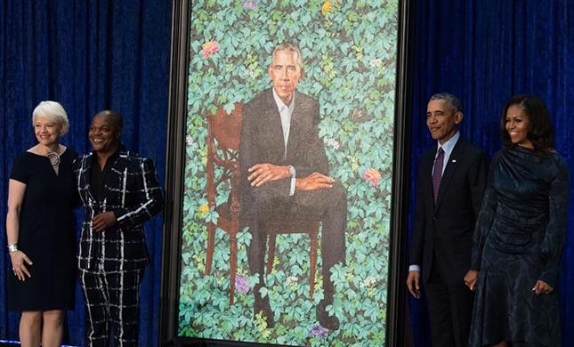 Obama portrait unveiled